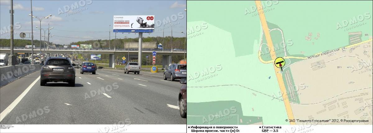 Развязка МКАД и ул. Молодогвардейской 55.950 км поз.  32.