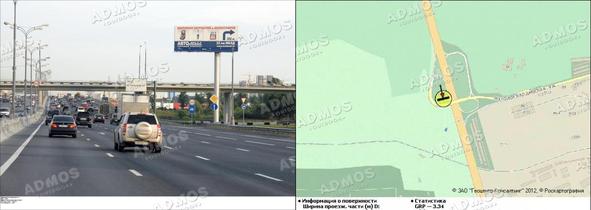 Развязка МКАД и ул. Молодогвардейской 56.050 км поз.  33.