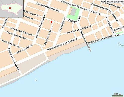 саратов карта улица