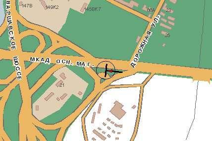 Развязка МКАД и Варшавского шоссе поз.  23. 31 (внешняя сторона 32.35 км) .