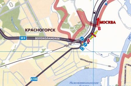 Красногорск схема развязки волоколамское ш ильинское ш