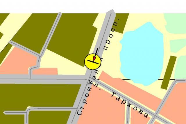 на карте Саратова. Схема