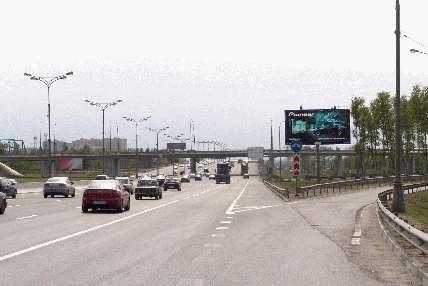 Развязка МКАД и Молодогвардейской ул. поз.  14. 1 (56.2 км внешняя сторна) .