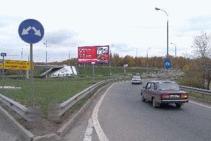 Развязка МКАД и Молодогвардейской ул. поз.14.  5 (55.9 км внутренняя сторона) .